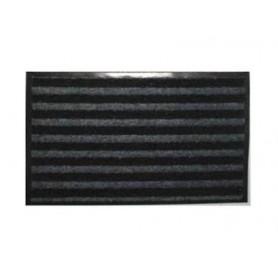 Tapis duo microfibres + grattant gris  90x150cm
