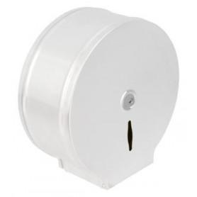 Distributeur papier maxi jumbo blanc époxy en métal