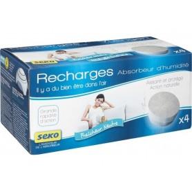 Recharges pour absorbeur d'humidité - Lot de 4 recharges