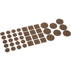 Patins de feutre marron - Lot de 120 pièces