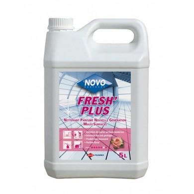 Détergent multi-surfaces surodorant floral Fresh Plus - Bidon de 5L