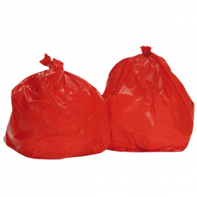 Sac poubelle 110 Litres Standard Rouge - Colis de 200