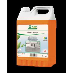 Tanet Orange, nettoyant écologique sols et surfaces - Bidon de 5 Litres