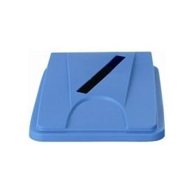 """Couvercle bleu """"papier"""" pour collecteur tri sélectif 60L et 80L  JVD"""
