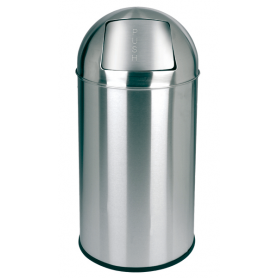 Collecteur PUSH 40L inox miroir JVD