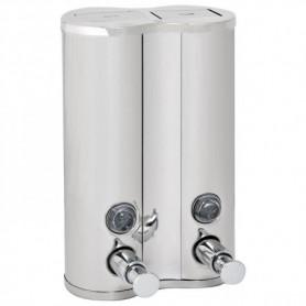 Distributeur inox gel douche et shampoing 2X500ml