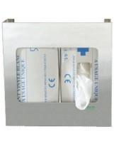Distributeur en inox pour 2 boîtes de gants