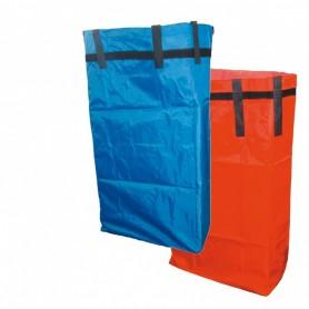 Sac toile plastifiée bleu 70 litres