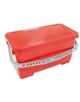 Seau 22 litres rouge sans couvercle
