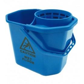 Seau pro 12 litres bleu avec système d'essorage