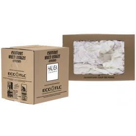 Chiffons d'essuyage, Jersey blanc imprimé - Carton de 10 kg