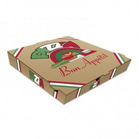 Boites à pizza Kraft marron - Colis de 100