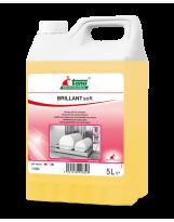 BRILLANT soft, Liquide de rinçage pour lave-vaisselle, eaux douces - Bidon de 5 Litres