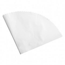 Nappes en feuilles rondes Blanches Diam 120cm - Colis de 250
