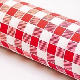 Nappe en rouleau Vichy Rouge 1,20x100m - Colis de 4