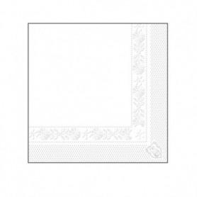 Serviettes 2 plis Blanches 20x20cm - Colis de 4800