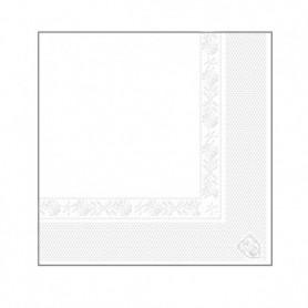 Serviettes 2 plis Blanches 25x25cm - Colis de 4800