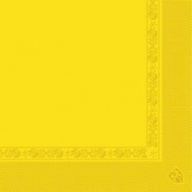Serviettes 2 plis Jaune soleil 40x40cm - Colis de 1600
