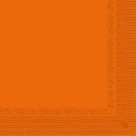 Serviettes 2 plis Orange 40x40cm - Colis de 1600