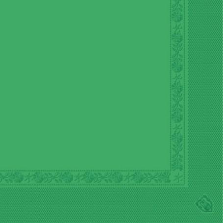 Serviettes 2 plis Vert prairie 40x40cm - Colis de 1600