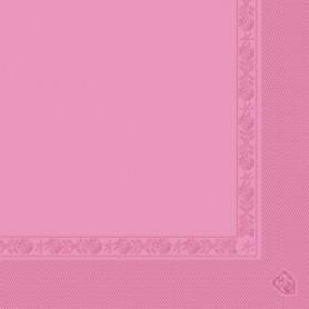Serviettes 2 plis Rose 40x40cm - Colis de 1600