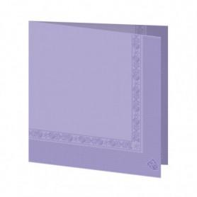 Serviettes 2 plis Lavande 40x40cm - Colis de 1600