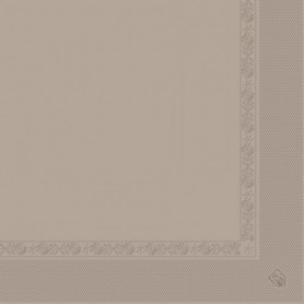 Serviettes 2 plis Taupe 40x40cm - Colis de 1600