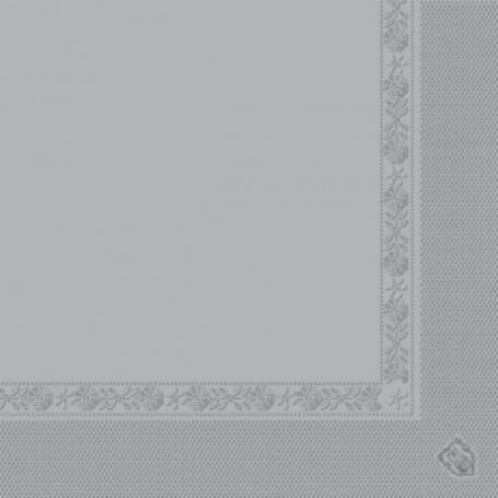 Serviettes 2 plis Gris 40x40cm - Colis de 1600