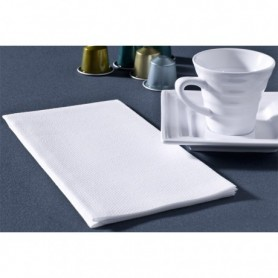 Serviettes Soft Blanches 45x45cm 60 g/m² Pliage 1/8 - Colis de 800