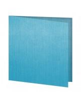 """Serviettes Texture """"Fil"""" Non-tissé Turquoise 40x40cm - Colis de 600"""