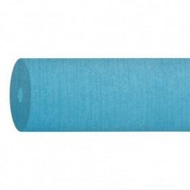 """Nappe Airlaid Texture """"Fil"""" Bleu Caraïbes - Rouleau de 1,2x50m"""