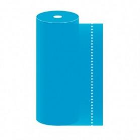Tête à tête 40x120cm Turquoise en Rouleau prédécoupé de 24m - Colis de 6