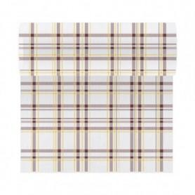 """Tête à tête """"Like-Linen"""" Scottish 40x120cm Marron en Rouleau prédécoupé de 24m - Colis de 6"""