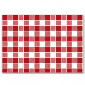 """Set de table modèle """"Vichy rouge"""" 31x43cm - Colis de 2000"""