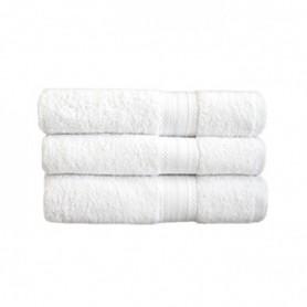 Serviette de toilette blanche 50x100 cm - Colis de 48