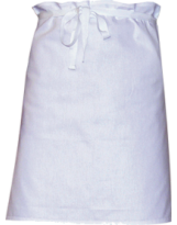 Tablier poly/coton blanc chef Sardaigne 102x90 cm