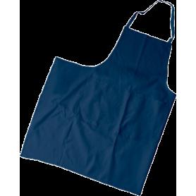 Tablier poly/coton bleu sans poche valet Malte 95x102 cm