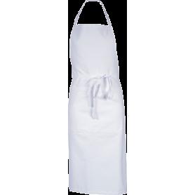 Tablier poly/coton blanc sans poche valet Malte 95x102 cm