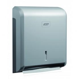 Distributeur essuie-mains Zig-Zag gris métal en ABS
