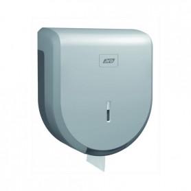 Distributeur papier mini jumbo gris métal en ABS