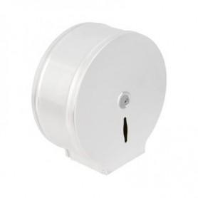 Distributeur papier toilette mini jumbo blanc époxy en acier