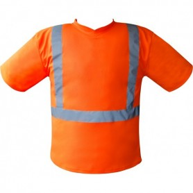 Tee-Shirt basic Haute visibilité orange