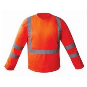 Tee-Shirt Haute Visibilité Manches longues Orange