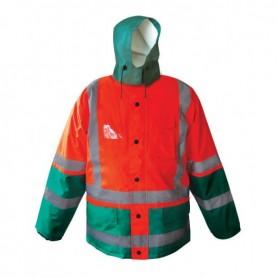 Parka LAPONIA 4 en 1 Haute visibilité Orange et Vert