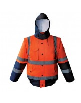 Blouson TROPICS Haute visibilité Orange et Bleu Marine