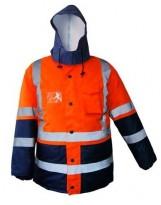Parka AVERNI Basic Haute visibilité Orange et Bleu Marine