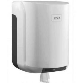 Dévidoir bobine maxi dévidage central blanc en ABS