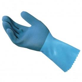 Gant latex Bleu sur support coton antidéparant - La paire