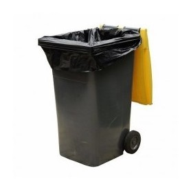 Housse container 330 Litres Extra Renforcée Noir - Colis de 100