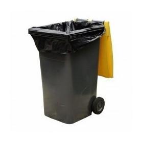 Housse container 240 Litres Extra Renforcée Noir - Colis de 100